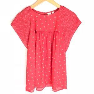 Gap Top Floral Blouse Women's M Shirt